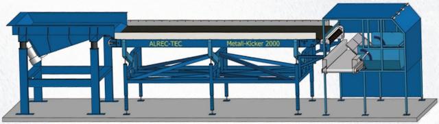 Metalkicker, opbouw installatie